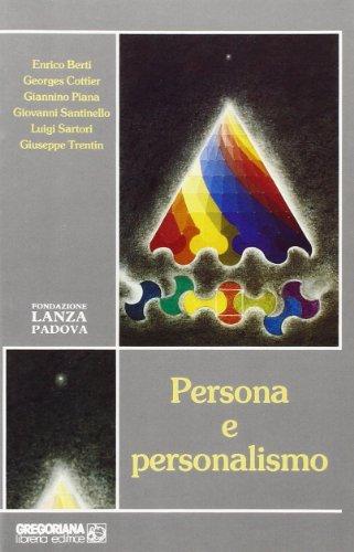 9788877060990: Persona e personalismo
