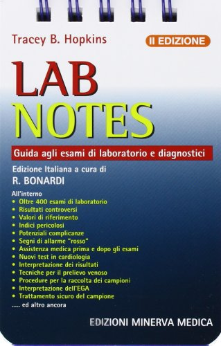 9788877117359: Lab notes. Guida agli esami di laboratorio e diagnostici