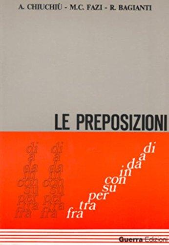 9788877150073: Le Preposizioni