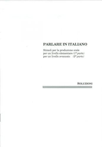 9788877152169: Parlare in Italiano: Chiavi (Italian Edition)