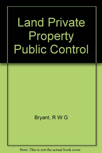 9788877212733: Land Private Property Public Control
