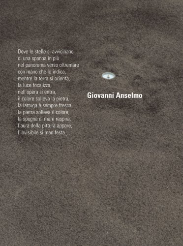 9788877572103: Giovanni Anselmo: Where The Stars Are Coming