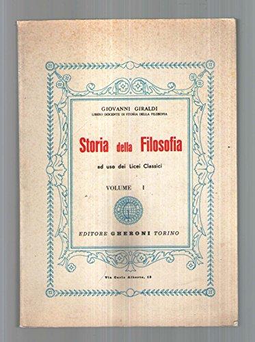Storia della filosofia: 1: Giraldi, Giovanni