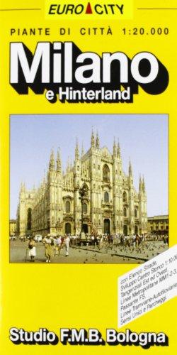 9788877750655: Milano, pianta della città e hinterland: Scala 1:20.000 (Euro-City) (Italian Edition)