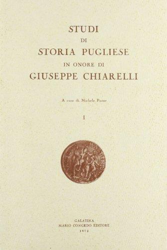 9788877860071: Studi di storia pugliese in onore di Giuseppe Chiarelli