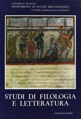 Studi di filologia e letteratura.: Bianco, Orazio Bandiera, Emilio Laudizi, Giovanni