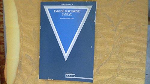 English diachronic syntax (Collana blu): n/a