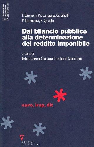 9788878029002: Dal bilancio pubblico alla determinazione del reddito imponibile