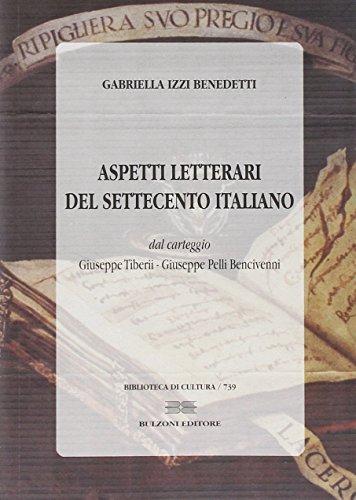 9788878708730: Aspetti letterari del Settecento italiano (Biblioteca di cultura)