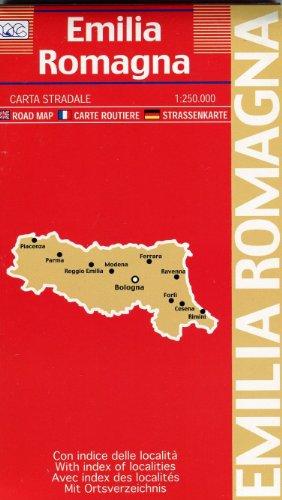 Regional Map Emilia Romagna (Italian Edition): Litografia Artistica Cartografica (LAC)