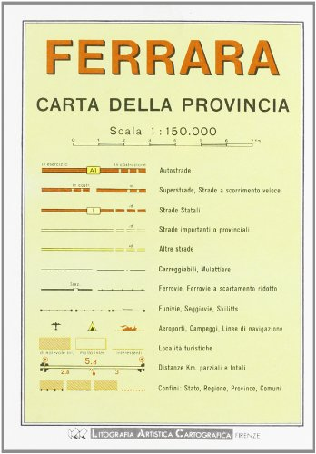 9788879140980: Ferrara Provincial Road Map (1:150, 000)