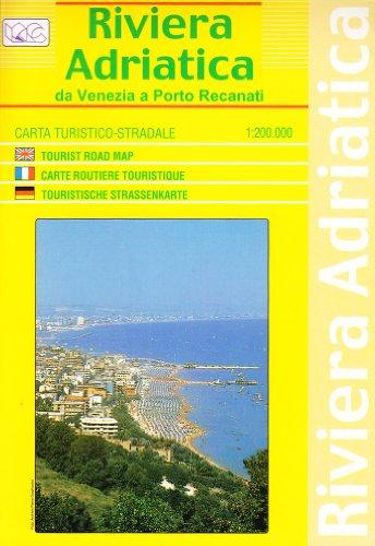 9788879141857: Riviera, Adriatic Road Map/Nautical Chart (Italian Edition)