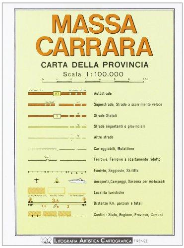 9788879141932: Massa Carrara. Carta stradale della provincia 1:100.000 (Carte stradali)