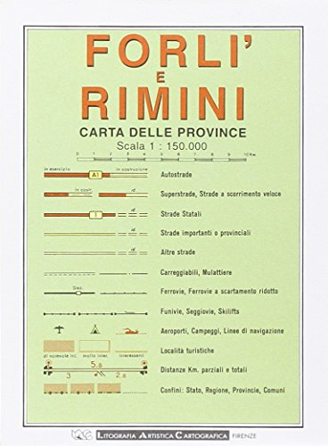 9788879142458: Forli and Rimini Provincial Road Map (1:150, 000) (Italian Edition) (English, Spanish, French, Italian and German Edition)