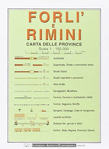 9788879142458: Forl�, Rimini 1:150.000 (Carte stradali)