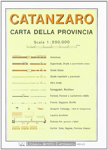 9788879142564: Catanzaro Provincial Road Map (1:200, 000) (Italian Edition)