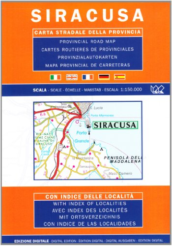 9788879142731: Siracusa, Sicily, Italy - Provincial Road Map (English, Spanish, French, Italian and German Edition)