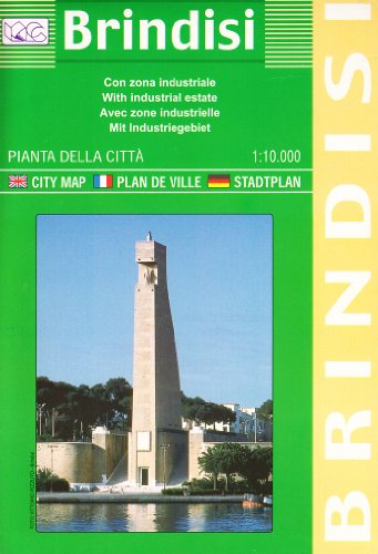 9788879143011: Brindisi with industrial estates: City Map (English, French, Italian and German Edition)