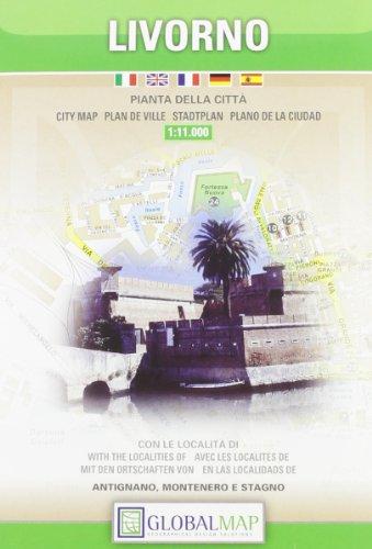 9788879143578: Livorno City Map (Pianta Della Citta) (English, Spanish, French, Italian and German Edition)