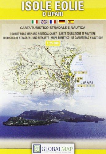 9788879143677 Aeolian Islands Tourist Road Map And Nautical Chart 1 25 000 English