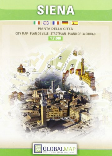 9788879143745: Siena City Map (English, Spanish, French and Italian Edition)