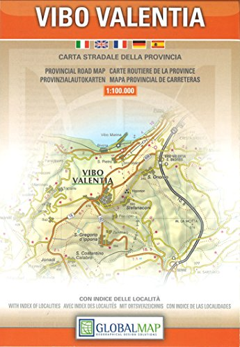 9788879143752: Vibo Valentia, Calabria, Italy - Provincial Road Map (1:100,000) (English, Spanish, French, Italian and German Edition)