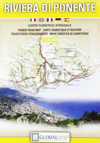 9788879143943: Riviera di Ponente (Ligurian Riviera) Tourist Road Map - 1:145,000 (English, Spanish, French, Italian and German Edition)