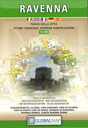 City Map Of Italy In English.9788879144681 Ravenna Italy City Map 1 5 000 English Spanish