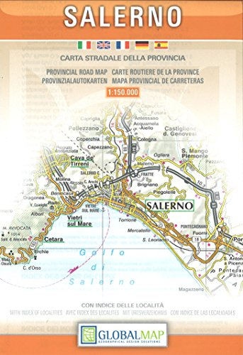 Road Map Of Italy In English.9788879144827 Salerno Campania Italy Provincial Road Map