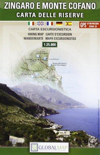 9788879145084: Zingaro e Monte Cofano - Hiking Map (English, Spanish, French, Italian and German Edition)