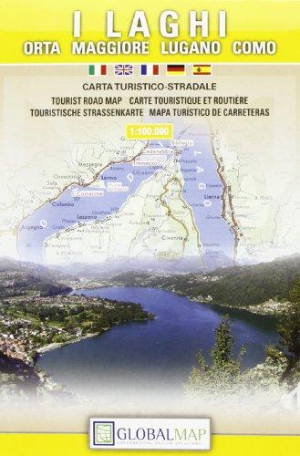 I laghi. Orta, Maggiore, Lugano, Como 1:100.000