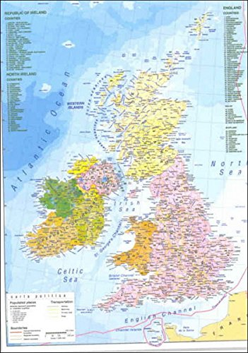 Gran Bretagna Cartina Geografica Politica.9788879147323 Carta Geografica Murale Gran Bretagna Fisica Politica 92x140 Abebooks 8879147323