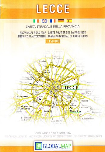 Provincial Map Of Italy.9788879149099 Lecce Italy Provincial Road Map English Spanish