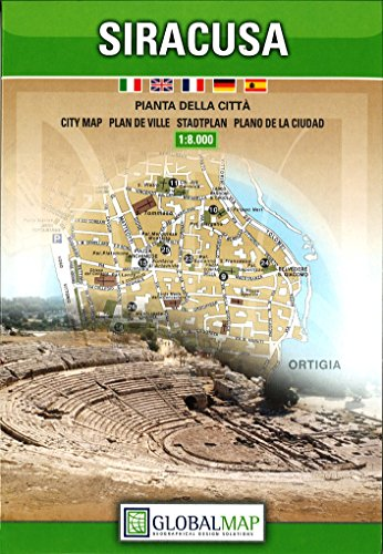 9788879149235: Siracusa, Italy - City Map (English, Spanish, French, Italian and German Edition)