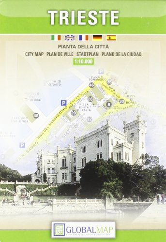 City Map Of Italy In English.9788879149266 Trieste Italy City Map 1 10 000 English