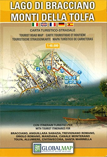 Lago Di Bracciano Monti Della Tolfa: Litografia Artistica Cartografica