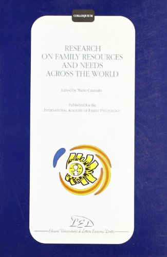 9788879160735: Research on family resources and needs across the world (Colloquium)