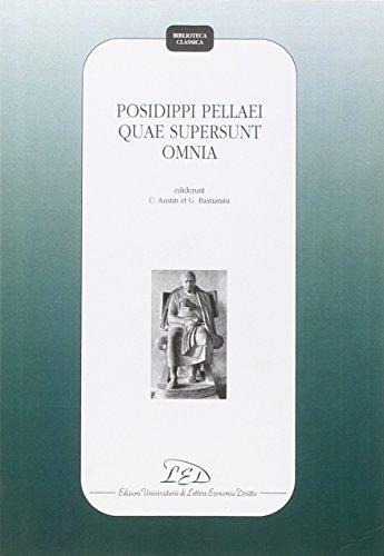 9788879161930: Posidippi Pellaei Quae Supersunt Omnia