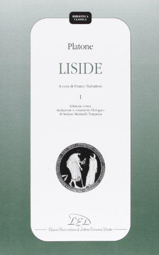 9788879162302: Platone. Liside: 1 (Biblioteca classica)