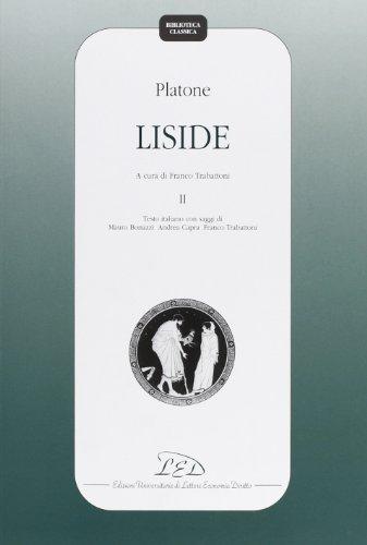 9788879162319: Platone. Liside: 2 (Biblioteca classica)