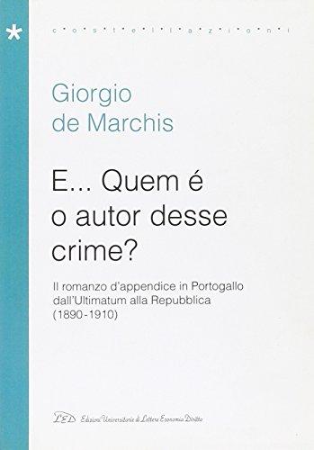 E. Quem è o autor desse crime?: De Marchis, Giorgio