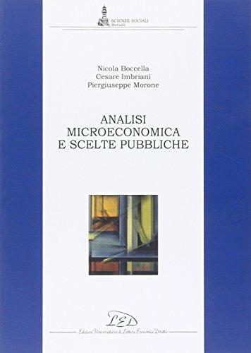9788879166676: Analisi Microeconomica e Scelte Pubbliche
