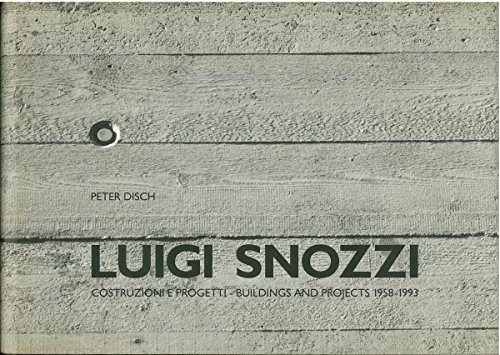 Luigi snozzi projects to do at home.