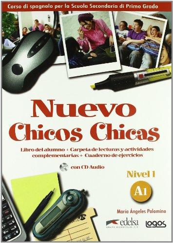 9788879407892: Nuevo chicos chicas. Livello A1. Libro del alumno-Ejercicios. Per la Scuola media. Ediz. illustrata. Con CD Audio