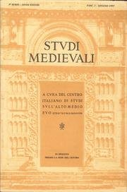 Studi medievali: Serie Terza. Anno XXXVIIIA - Fasc. I 1997: Centro Italiano di Studi sull'alto ...