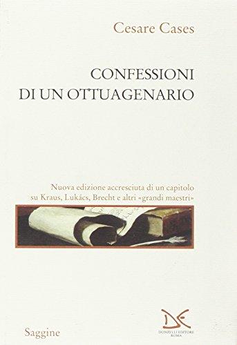 9788879897624: Confessioni di un ottuagenario
