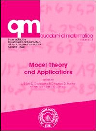 9788879994118: Model theory and applications