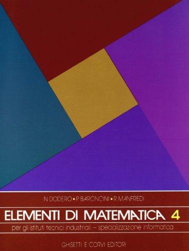 9788880131625: ELEMENTI DI MATEMATICA, 4 ITI INFORMATICA