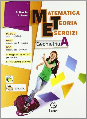 9788880425182: Matematica teoria esercizi. Geometria. Per la Scuola media. Con espansione online: 1