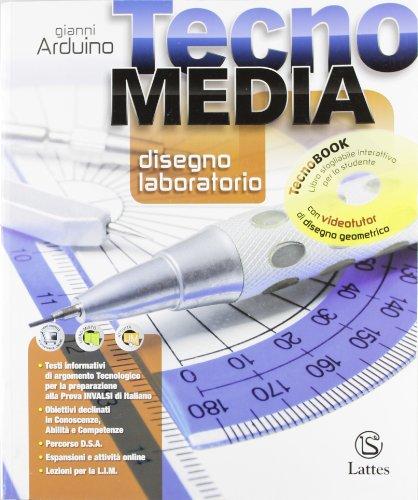 9788880425885: Tecnomedia disegno laboratorio tecnobook. Per la Scuola media. Con DVD